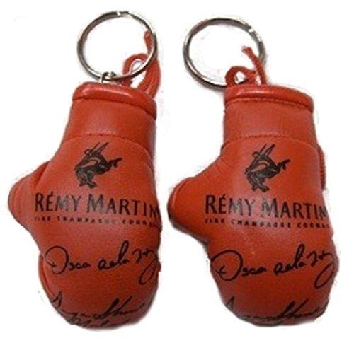 2pc Set Remy Martin Oscar De La Hoya Sugar Shane Mosley Boxing Glove Keychain