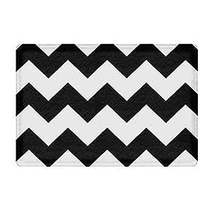 Amazon Com Fannee Black And White Chevron Rubber Non