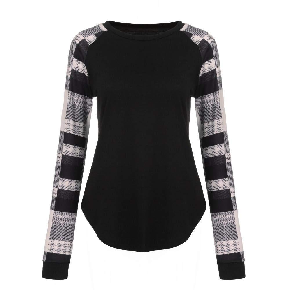 Redshop Blouse Women Stripe Casual Top T Shirt Ladies Loose Long Sleeve Slim Top