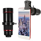 Travel Supplies - 18X Universal Phone Camera Lens Telephoto Telescope Aluminium Monocular With Clip
