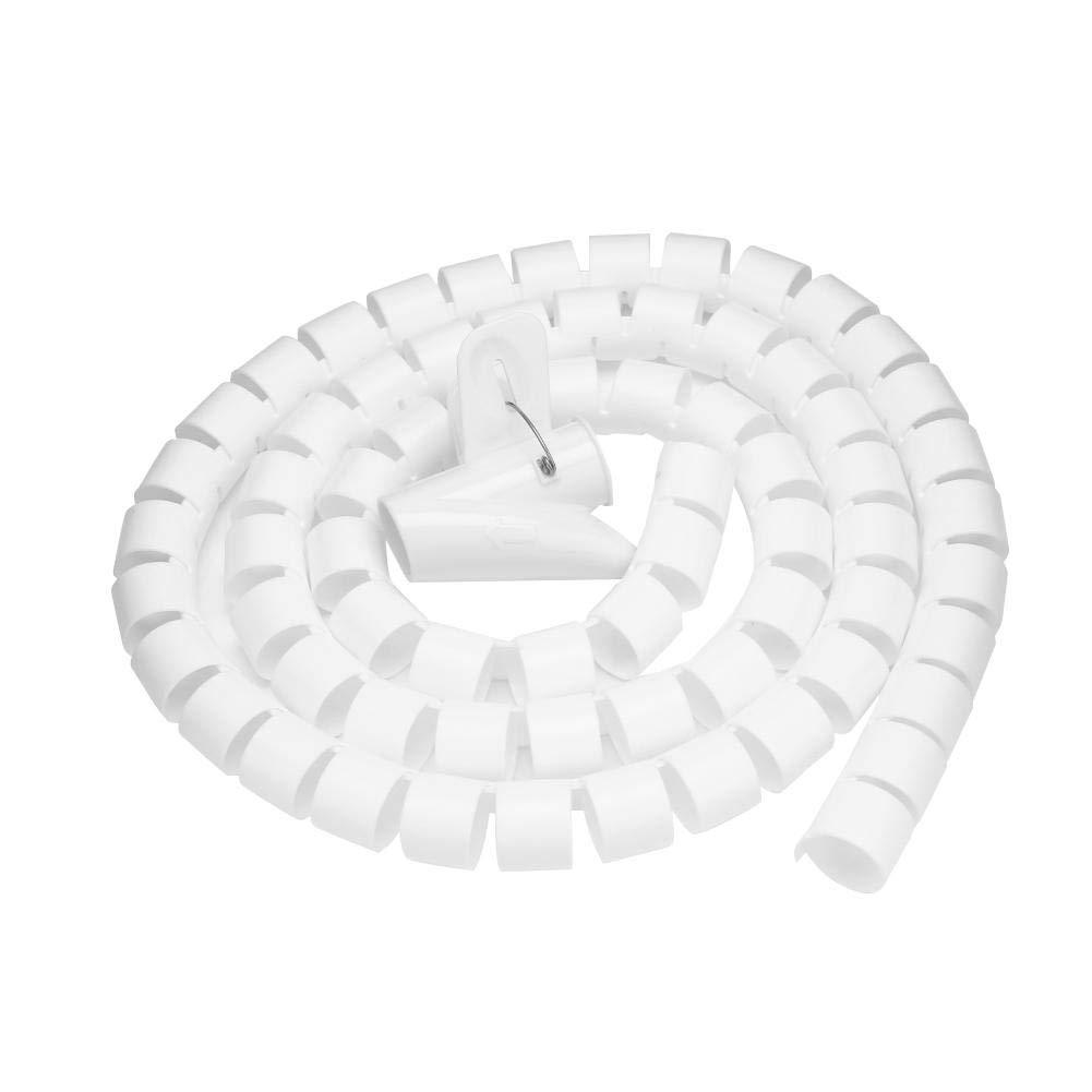 Organizador de Cables en Espiral 1,5 m, 16//22//28 mm Color Blanco y Negro Zerone D-Line