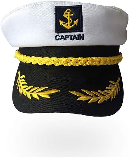 Ogquaton Navy Navy Captain Hat Unisex ajustable traje naval gorra ...