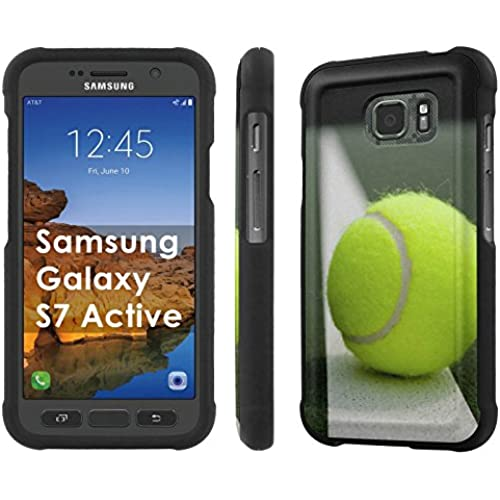 AT&T [Galaxy S7 Active] [5.1 Screen] Armor Case [NakedShield] [Black] Total Armor Protection [Shell Snap] + [Screen Protector] Phone Case - [Tennis] for Samsung Sales