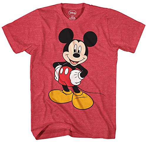 Mickey Mouse Disney Funny Graphic Tee Classic Vintage Disneyland World Mens Adult T-shirt (X-Large) - Vintage Mickey Mouse T-shirt
