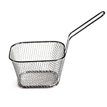 Finance Plan French Fries Fryer Basket Mini Stainless Steel Potato Chips Kitchen Cooking Tool Gadget Silver