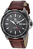 Rip Curl Men's 'DVR' Quartz Stainless Steel and Leather Sport Watch, Color:Brown (Model: A2999-NAV)