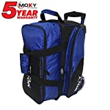 Cheap Moxy Bowling Products Blade Premium Double Roller Bowling Bag- Royal/Black