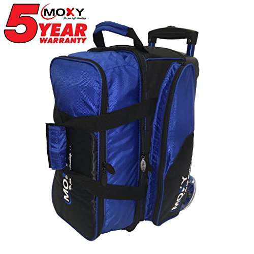 Moxy Blade Premium Double Roller Bowling Bag- Royal/Black by Moxy Bowling Products