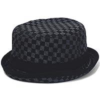 ハッピーハット 帽子 格子柄ポークパイハット えらべる60cm 57cm カジュアル
