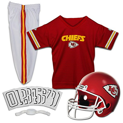 Franklin Sports NFL Kansas City Chiefs Deluxe Youth Uniform Set, Medium - Costume City