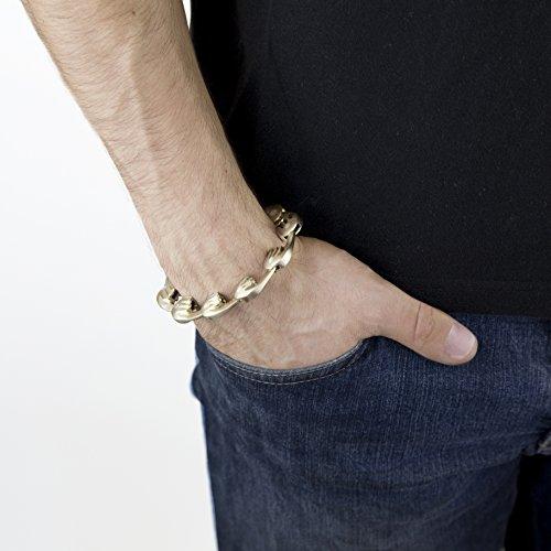 nilplug What We Lancer Bronze et en argent sterling Bracelet de 22cm