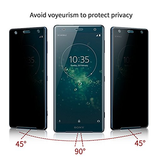 For Sony Xperia XZ2 H8296 Privacy Screen Protector-[1 PACK] Anti-Spy Bubble Free Protective Screen Protector Soft Film (Not Glass) for Sony Xperia XZ2 H8296