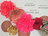 Set of 5,Giant peony paper flower wedding backdrop,23 -25 inch,large Peony paper flower bridal decor,Backdrop,Red,Pink Peony paper flower.