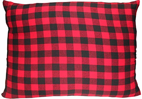 Red and black twill buffalo check,Fabric Pillow Shams 21