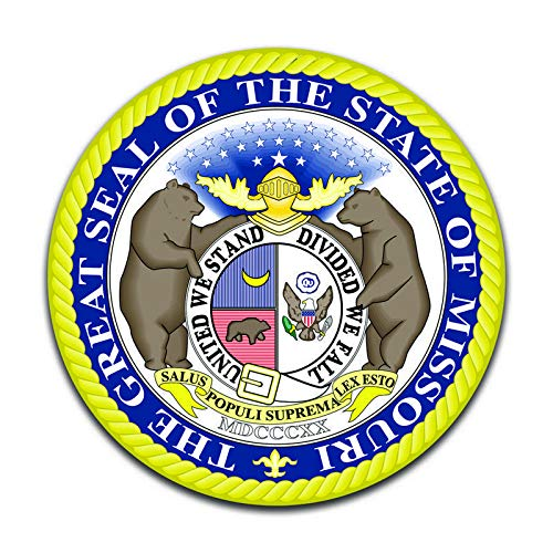 More Shiz Missouri State Seal (2 Pack) Vinyl Decal Sticker - Car Truck Van SUV Window Wall Cup Laptop - Two 5 Inch Decals - MKS0912