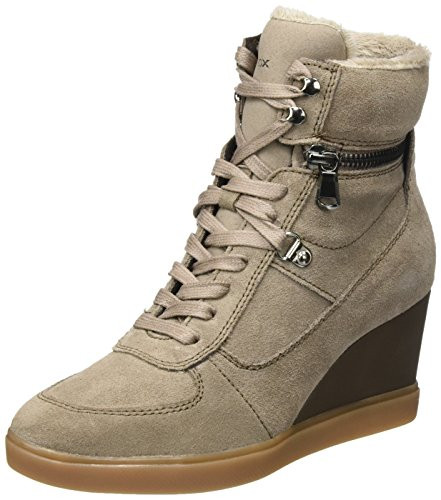 Hautes Beige Geox B taupe Sneakers D Femme Eleni RzwITqwf