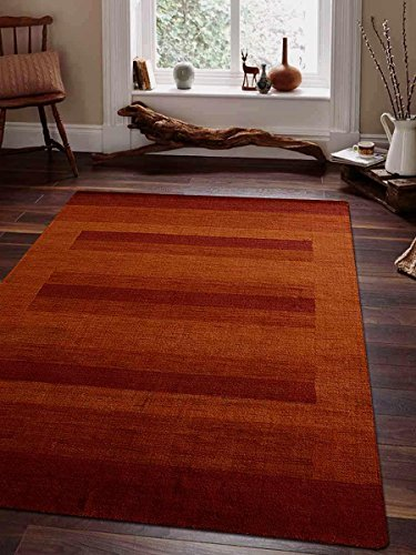 Rugsotic Carpets Hand Knotted Loom Wool 6' x 9' Area Rug Contemporary Rust L0B904 from Rugsotic Carpets