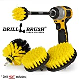 Bathroom Accessories – Drill Brush - Scrub Brush Kit with Extension – Bath Mat Scrubber – Carpet Cleaner - Clean Bathroom Sink, Shower Mat, Tile and Grout, Bathtub and Floors, Bidet and Toilet Brush