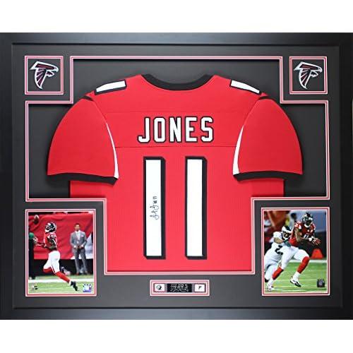 buy popular 69c3d 10d8a Julio Jones Autographed Red Falcons Jersey - Beautifully ...