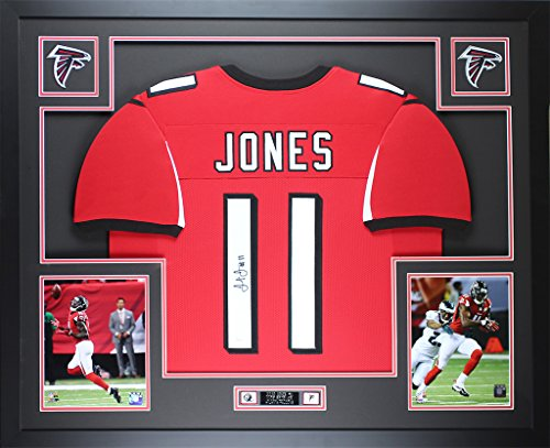 Julio Jones Autographed Red Falcons Jersey - Beautifully Matted and Framed - Hand Signed By Julio Jones and Certified Authentic by JSA COA - Includes Certificate of Authenticity