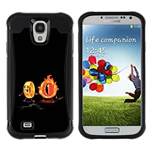 Be-Star único patrón Impacto Shock - Absorción y Anti-Arañazos Funda Carcasa Case Bumper Para SAMSUNG Galaxy S4 IV / i9500 / i9515 / i9505G / SGH-i337 ( Flaming Eye & The Ring Funny )