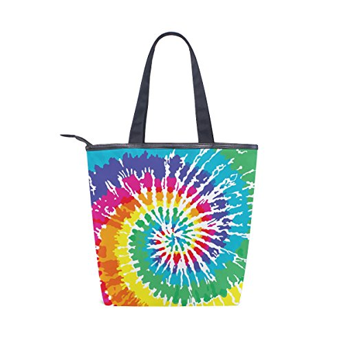 Colorful Tote Tie Womens Dye MyDaily Bag Shoulder Handbag Printed Canvas qSTxwTInA