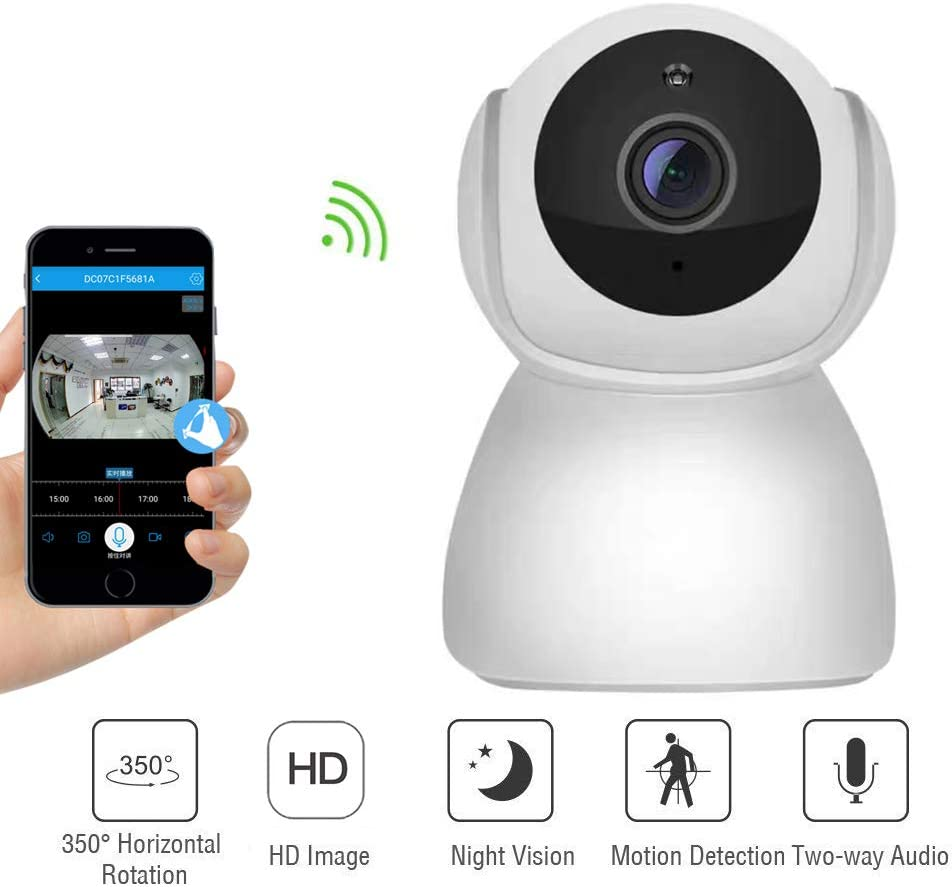 Melesplus Wireless 1080P WiFi Home Security Camera,Surveillance IP Camera for Baby/Elder/Pet/Nanny Monitor,Pan/Tilt,Two-Way Audio & Night Vision