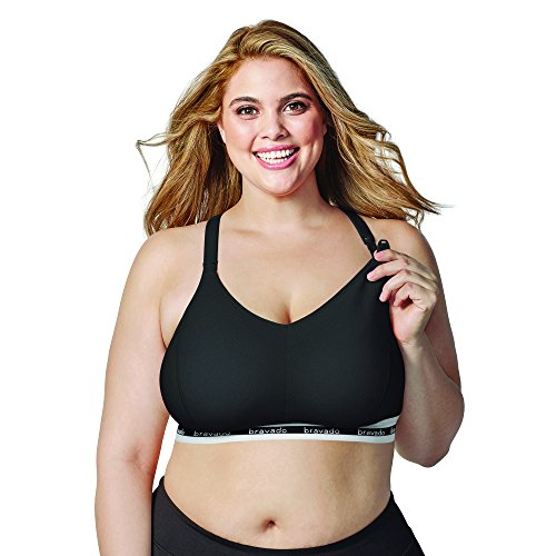 Maternity Soft Cup Nursing Bra - BRAVADO! DESIGNS Women's Original Full Cup Maternity & Nursing Sleep Bra, Black, Small - Full Cup
