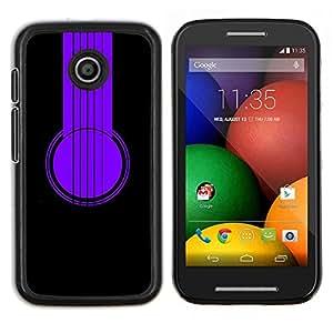 """Be-Star Único Patrón Plástico Duro Fundas Cover Cubre Hard Case Cover Para Motorola Moto E / XT1021 / XT1022 ( Auriculares púrpuras"""" )"""