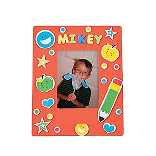 Foam School Picture Frame Magnet Craft Kit ~ Makes 24 ~ New