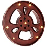 Vintage Red LED Metal Movie Reel Home Theater Recreation Room Theatre Wall Decor HUGE MARQUEE