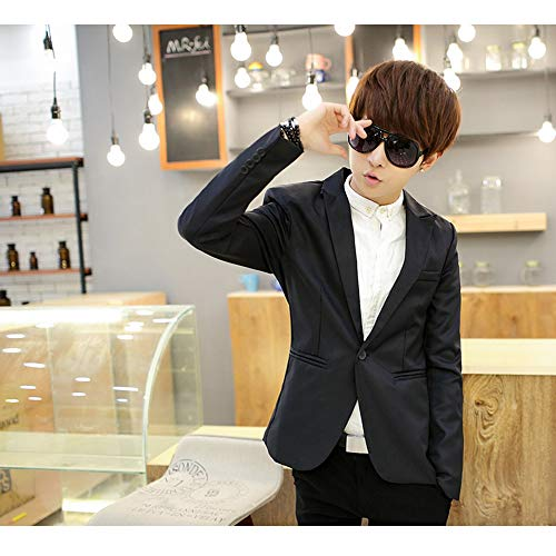 Kindoyo Mariage Slim Noir Manches Costumes Blazer Longues Veste Fit Hiver Elégant Hommes Blousons Affaires q06Rwvqr