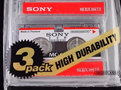 Sony 60 Minute Blank Microcassette Tapes MC-60, Set of 3 by Sony