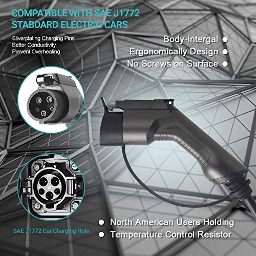 Morec 32 Amp EV Charger Level 2, NEMA14-50 26ft 220V-240V Upgraded Portable EV charging cable Station, Electric vehicle charger Compatible with All EV Cars. by Morec (Image #3)