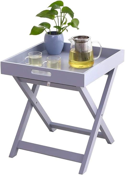 Hermosa Apariencia Tabla pequeña Cafetera for la casa estudio dormitorio, simple nórdica plegable Mesa Mirador pequeña mesa de café Sala de estar Balcón informal pequeña mesa de centro Fácil de Coloca: Amazon.es: