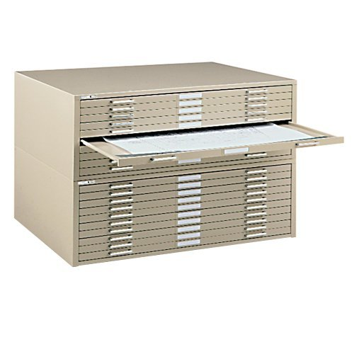 Mayline Steel Flat File with 10 Drawers 29