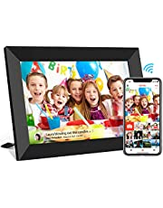 10.1 inch FRAMEO WiFi Digital Picture Frame, IPS Touch Screen Smart Cloud Photo Frame with 16GB Storage, Share Photos or Videos via Free Frameo APP Anywhere Anytime, Auto-Rotate, Wall Mountable