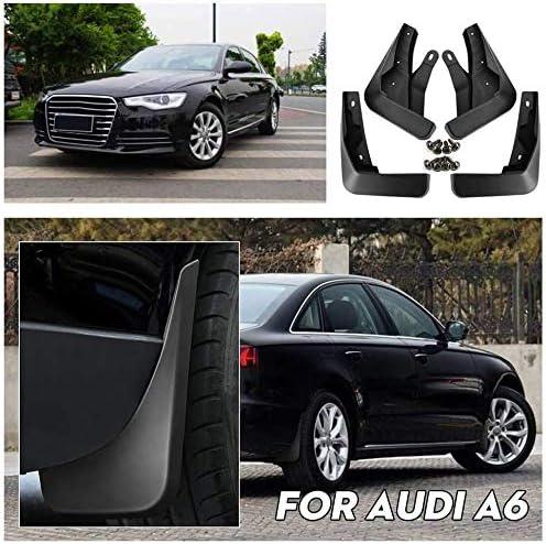 Gemmry 4 St/ück Auto Schmutzf/änger Kotfl/ügel ABS-Kunststoff Vorne und Hinten Rad Schutz Spritzschutz f/ür Audi A6 Styling Autozubeh/ör
