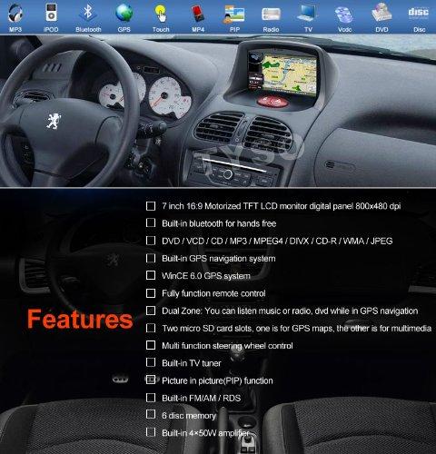 Amazon.com: Tyso For Peugeot 206(1998-2009) 7
