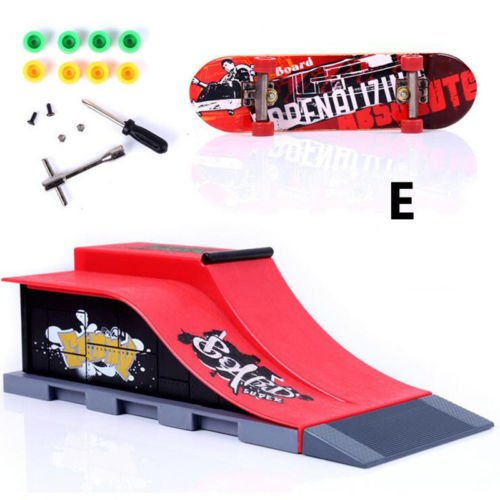 Educational 6 Type ABS Mini Skate Ramp Parts for Tech Deck Finger Skateboard Toy
