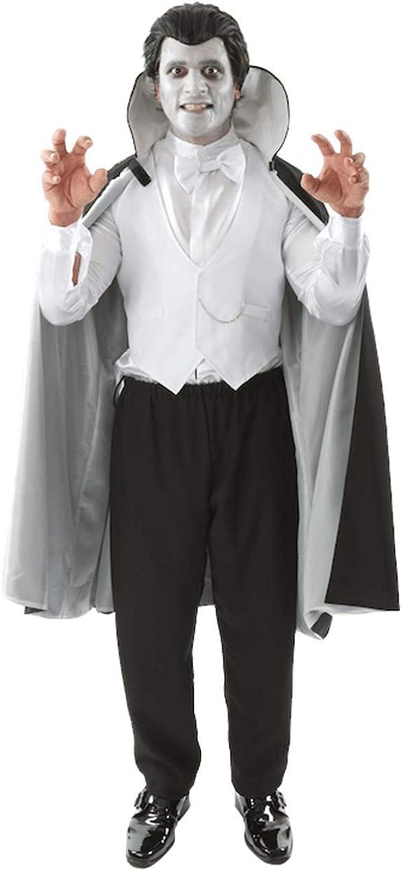 Disfraz de Vampiro Blanco y Negro para Halloween para Hombres ...