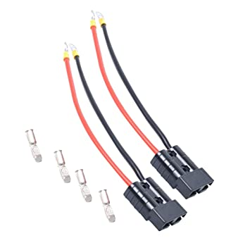 MagiDeal 2 x Stecker Steckverbinder Flachstecker 10-12 AWG Kabel für ...
