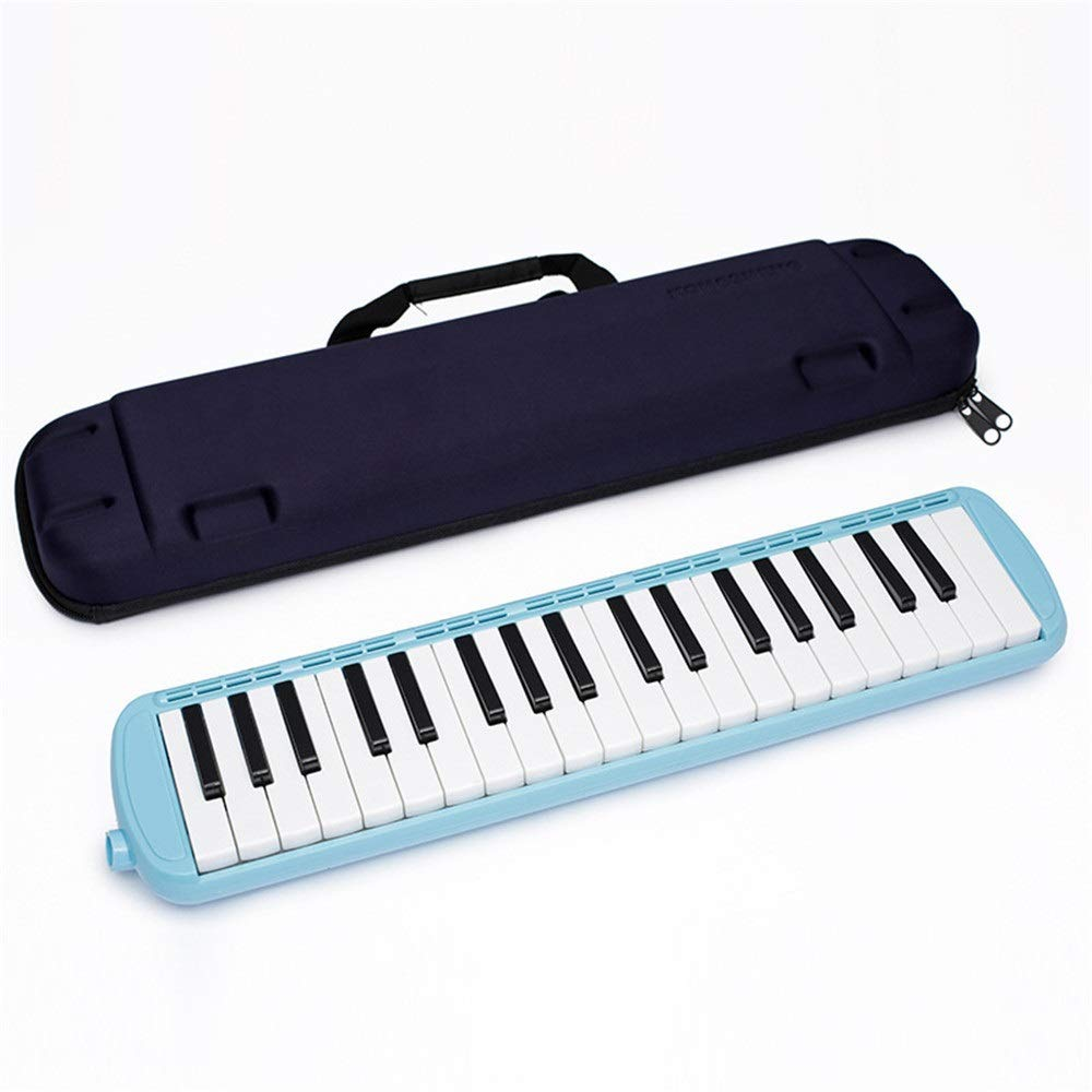 Melodica Musical Instrument 37 Keys Kids Musical Piano Melodica Instrument Gift Toy Pianica Melodica For Music Lovers Beginners Portable With Mouthpieces Tube Sets Carrying Bag Pink Blue For Music Lov by Kindlov-mus (Image #1)