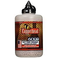 Crosman Copperhead 6000 cobre recubierto BBs Cal. 4.5mm en una botella