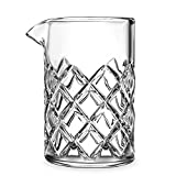 Yarai Cocktail Mixing Glass By Mixologists - Featuring The Classic Japanese Diamond Cut Pattern - Unique Elegant Design- Heavy Duty Glass- Dishwasher Safe- 500ml (17oz)