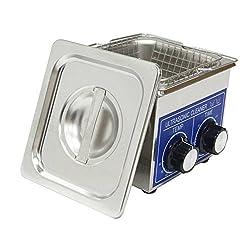 Vogvigo Professional Ultrasonic Cleaner Jewelry Cleaner Stainless Steel Washing Basket Knob Control Heating Ultrasonic Washing Machine?Ps-10 2L 80w?mini