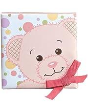 Aurora Baby Canvas Wall Art, Pink Bear with ribbon bow,handmade