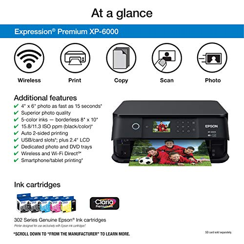 Epson Expression XP-6000 Wireless Color with &