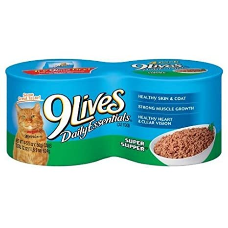 Amazon 9 Lives Super Supper 55 Oz 4 Pack Canned Wet Pet