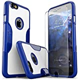 iPhone 6 Plus Case, SaharaCase Blue White + Tempered Glass Screen Protector For Apple iPhone 6s Plus & 6 Plus [Trusted Apple Screen Protective Kit] with Camera Image Enhancing Technology Blue/White